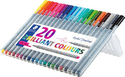 Staedtler Triplus fineliner 20st brilliant colours 0,3mm