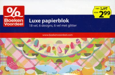 Luxe Papierblok met diverse vormen Party 2013