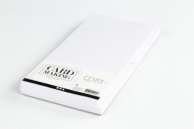 Pakket kaarten met enveloppen wit 50st 15x15cm