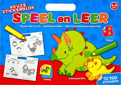 Reuze stickerblok speel en leer tellen van 1 tot 10 woordjes leren