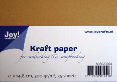 Kraft papier a5 21 x 14,8 cm