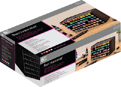 Spectrum noir opbergrek voor 72 stuks- Zwart