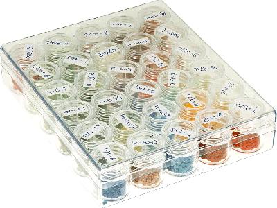 Opbergdoos met 30 sorteerbakjes voor diamond painting
