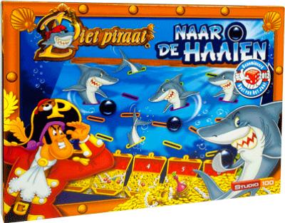 Piet Piraat naar de haaien (bordspel)