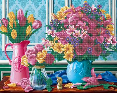 Framed crystal art kit prachtige bloemen