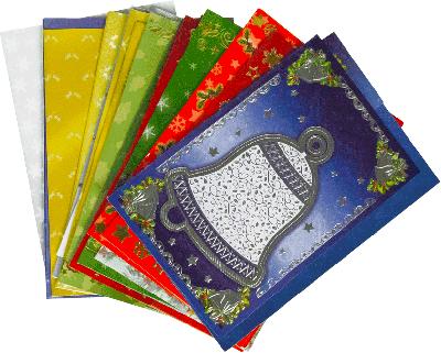 10 Kerstkaarten + envelop (sortie)