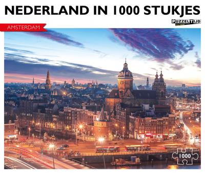 Puzzel Amsterdam bij nacht (1000 stukjes)