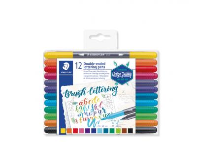 Staedtler brush letter duo penseel lettering pen set 12