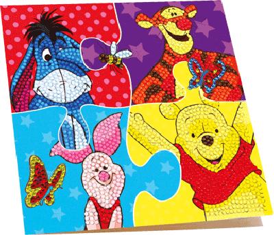 Disney diamond painting kaart Winnie the pooh
