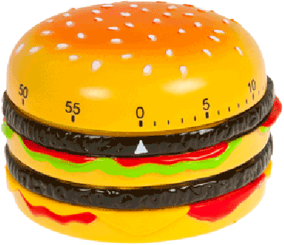 Plastic Timer (Hamburger 8x6 cm) Kook wekker