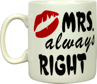 Mug Mr Right & Mrs Always right