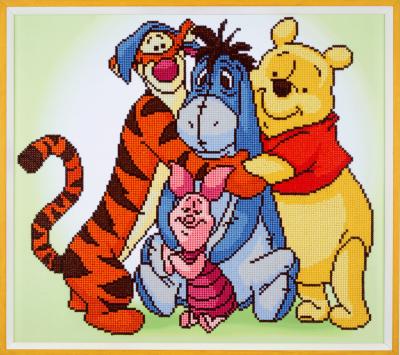 Diamond Painting kit Disney Pooh en zijn vrienden 47x42cm
