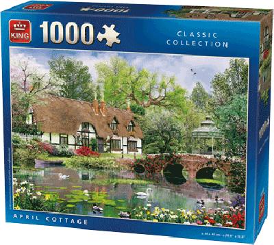 PUZZLE April Cottage (1000 stukjes)