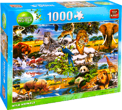 Legpuzzel Wild Animals 1000 stukjes