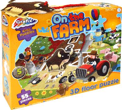 Floor puzzle: On the farm 3D