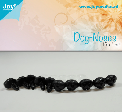 Honden neus zwart 15x11 mm