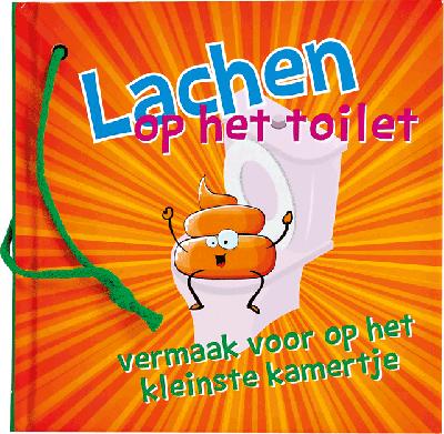 Lachend op het toilet Vermaak op het kleinste kamertje