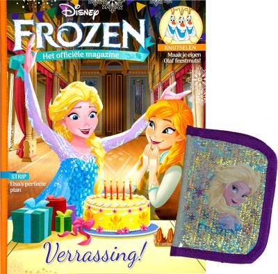 Disney Frozen magazine + mini portemonnee