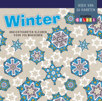 Winter Ansichtkaarten kleuren voor volwassenen