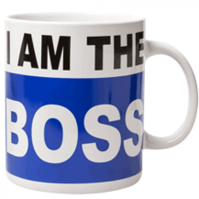 I am the Boss XXL koffiemok 900 ml
