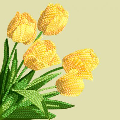 Crystal Card kit A17 Spring Tulips 18x18cm
