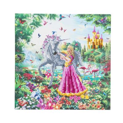 Framed crystal art kit the princess & the unicorn 30x30cm part