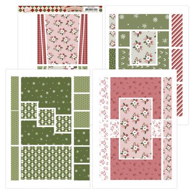 Printed figure cards warm christmas feelings