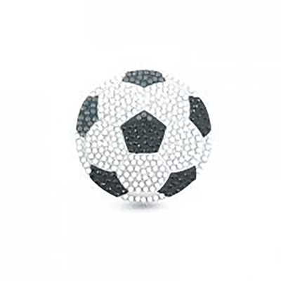 Crystal motif sticker kit football with tool