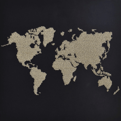 Miniart Crafts Silver map 40 x 40 cm
