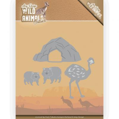 Amy Design Wild Animals Outback snijmal emu and wombat