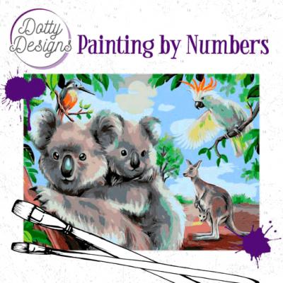 Schilderen op nummer Wild Animals outback Dotty Design