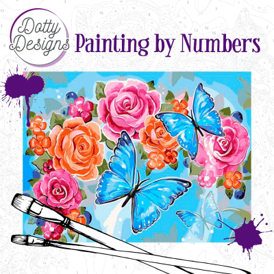 Schilderen op nummer butterlies Dotty Design