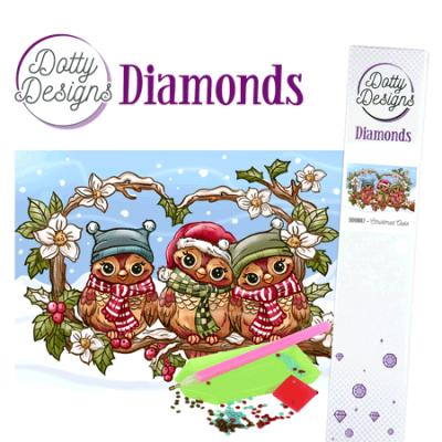Dotty Designs Diamonds kerst uilen