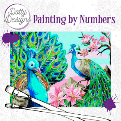 Schilderen op nummer pauw Dotty Design