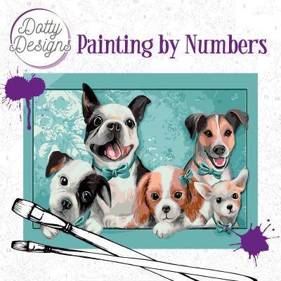 Schilderen op nummer honden Dotty Design