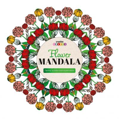 Flower mandala creatief kleuren voor volwassenen