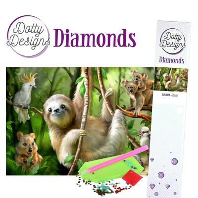 Dotty Designs diamonds luiaard