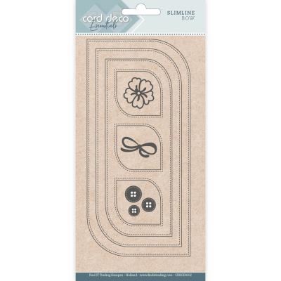 Slimline snijmal slimline bow card deco essentials