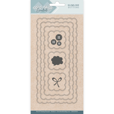Slimline snijmal slimline buttons card deco essentials