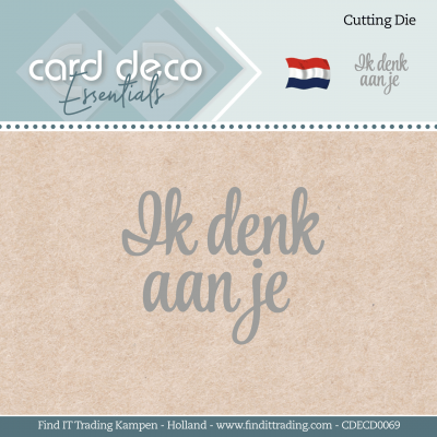 Card deco essentials snijmal ik denk aan je