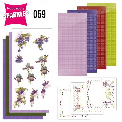 Sparkles set 058 purple flowers van Precious Marieke