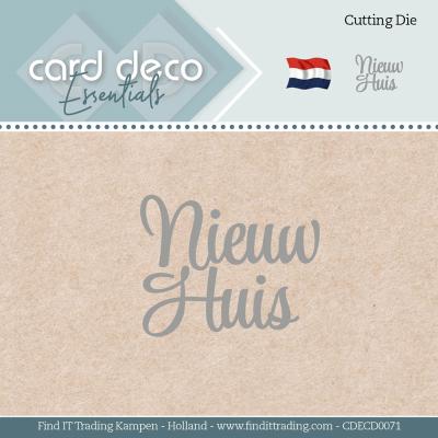 Snijmal nieuw huis Card Deco Essentials