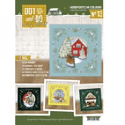 Dot & Do on colour 013 Christmas Cottage van Jeanine's Art