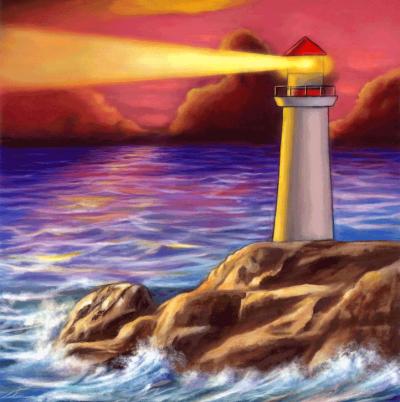 Crystal Card kit A49 lighthouse 18x18cm