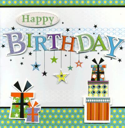 Kaart Happy Birthday Cadeautjes Luxe Uitgestanste Kaart Met