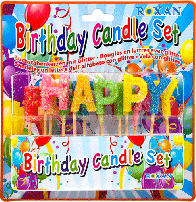 Letter Kaarsen Happy Birthday