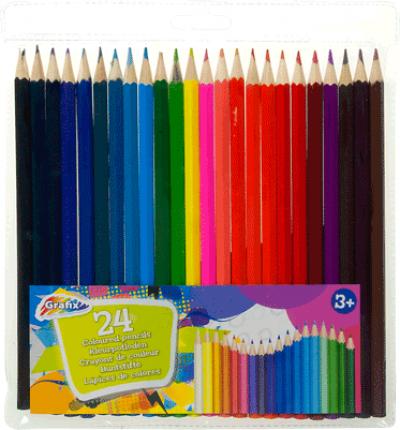 Kleurpotloden in hoes (24 stuks)