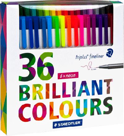 Staedtler Triplus Fineliner 36 Brilliant Colours