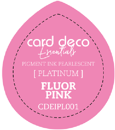 Pigment ink fluor pink fast drying pearlescent card deco ess