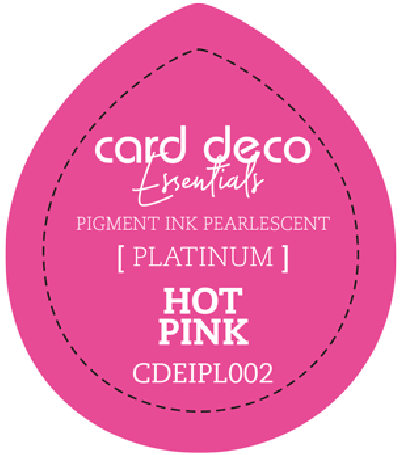 Pigment ink hot pink fast drying pearlescent card deco ess